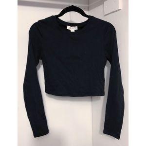 🖤 F21 | NWT Long Sleeved Black Crop Top 🖤